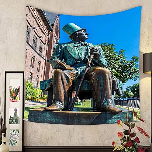 Madeleine Ellis Custom tapestry monument of hans christian andersen in copenhagen denmark by Madeleine Ellis
