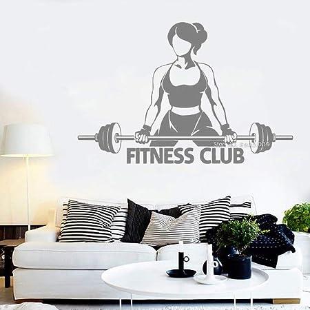 Ajcwhml Chica Fitness Club Tatuajes de Pared Arte Logo Etiqueta ...