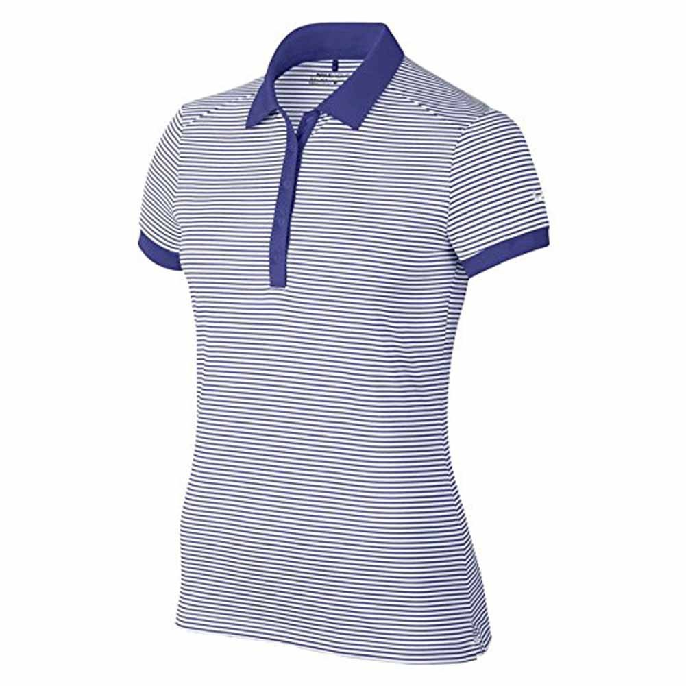 60353df10819 Amazon.com  Nike Womens Victory Stripe Golf Polo Shirt Blue White  Sports    Outdoors