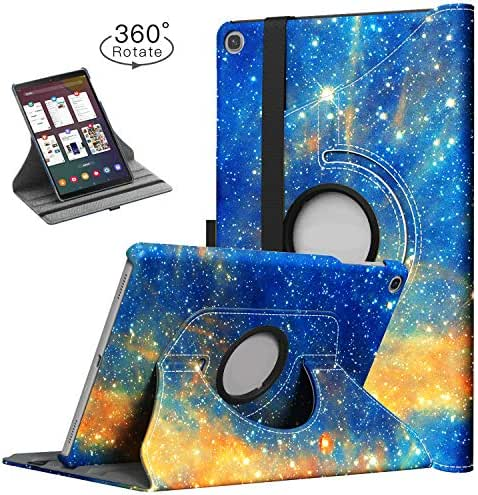 TiMOVO Case for Samsung Galaxy Tab A 10.1 2019 (T510/T515),Ultra Lightweight Slim Shell 360 Degree Rotating Swivel Stand Cover Fit Galaxy Tab A 10.1 2019 Tablet - Skystar