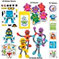 120 Pc Robot Birthday Party Favors for Kids Pack (Great for Goodie Bags For Kids Birthday, Return Gifts For Kids Birthday, Boys Party Favors, Robot Party Supplies & Robot Stocking Stuffers)