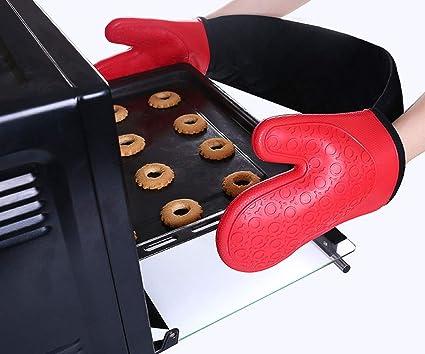 1 Paire Noir SovelyBoFan Oven Gants Mitaines De Four De Cuisine Antid/érapantes Gants De Cuisson R/ésistant /à La Chaleur Cuisson Au Four Maniques