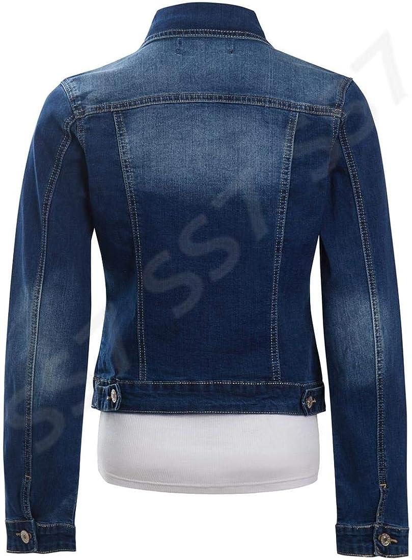 SS7 Womens Plus Size Stretch Denim Jacket