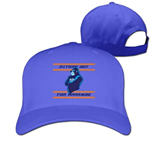 Adult Ditkas Out For Harambe Cotton Adjustable Peaked Baseball Cap RoyalBlue