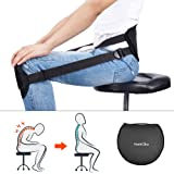 HailiCare Correct Back Posture, Back Support Pad for Better Sitting Posture & Correcting Brace Ergonomic Waist Protector for Lower Back Pain Relief