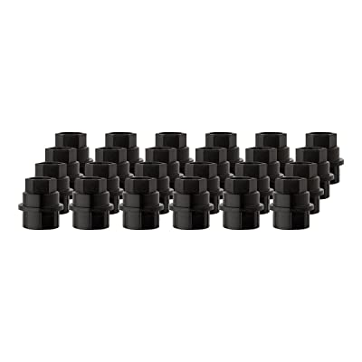 DPAccessories CC-4D-P-OBK05024 24 New Black Plastic Wheel Lug Nut Caps - Replaces GM 15646250 / Dorman 99956 Wheel Lug Nut Cap: Automotive