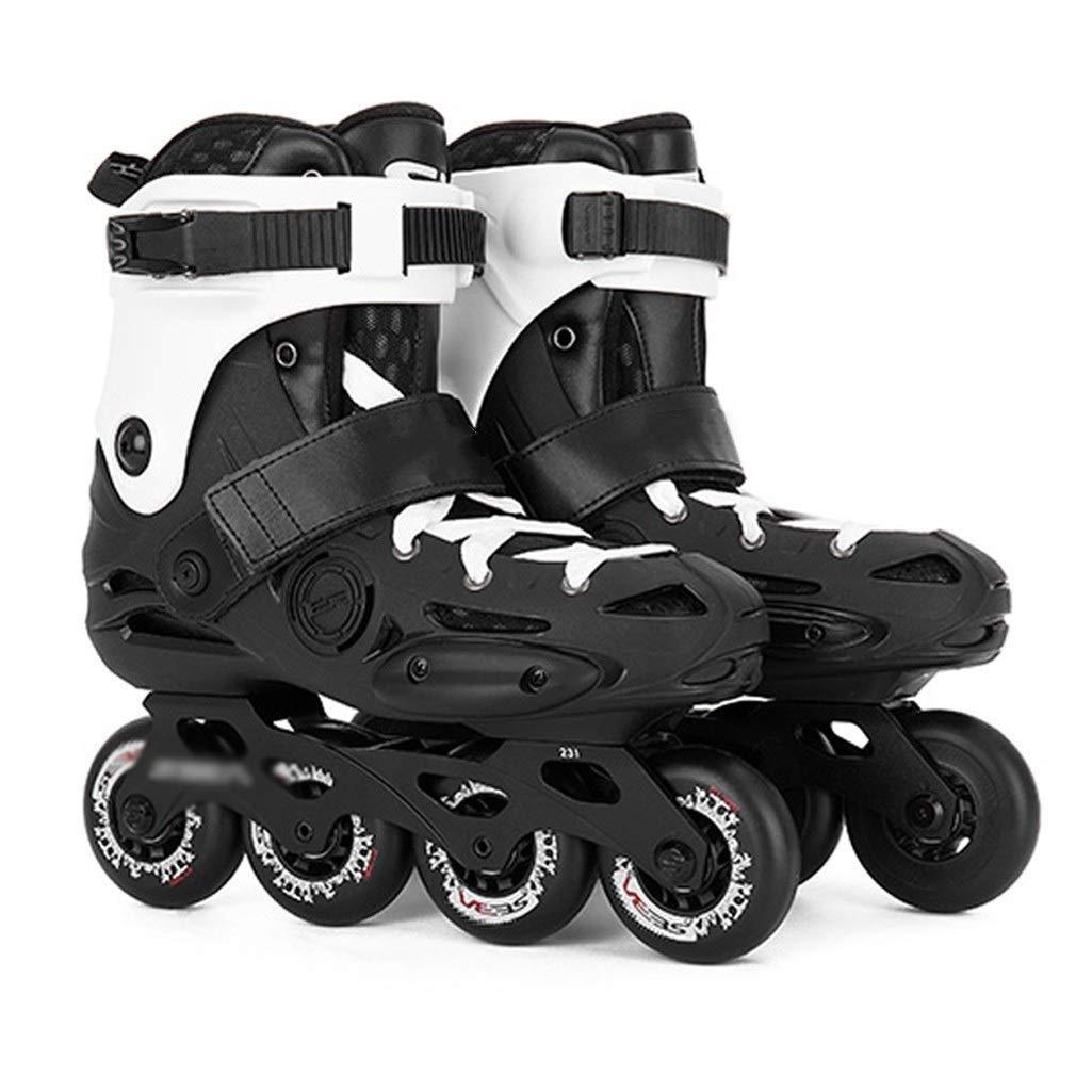 エクストリームスポーツローラーブレードユニセックスインラインスケートローラー ブレード アグレッシブ (Color : Black, Size : EU 41/US/8/UK 7/JP 25.5cm) EU 41/US/8/UK 7/JP 25.5cm Black B07VY36HMQ
