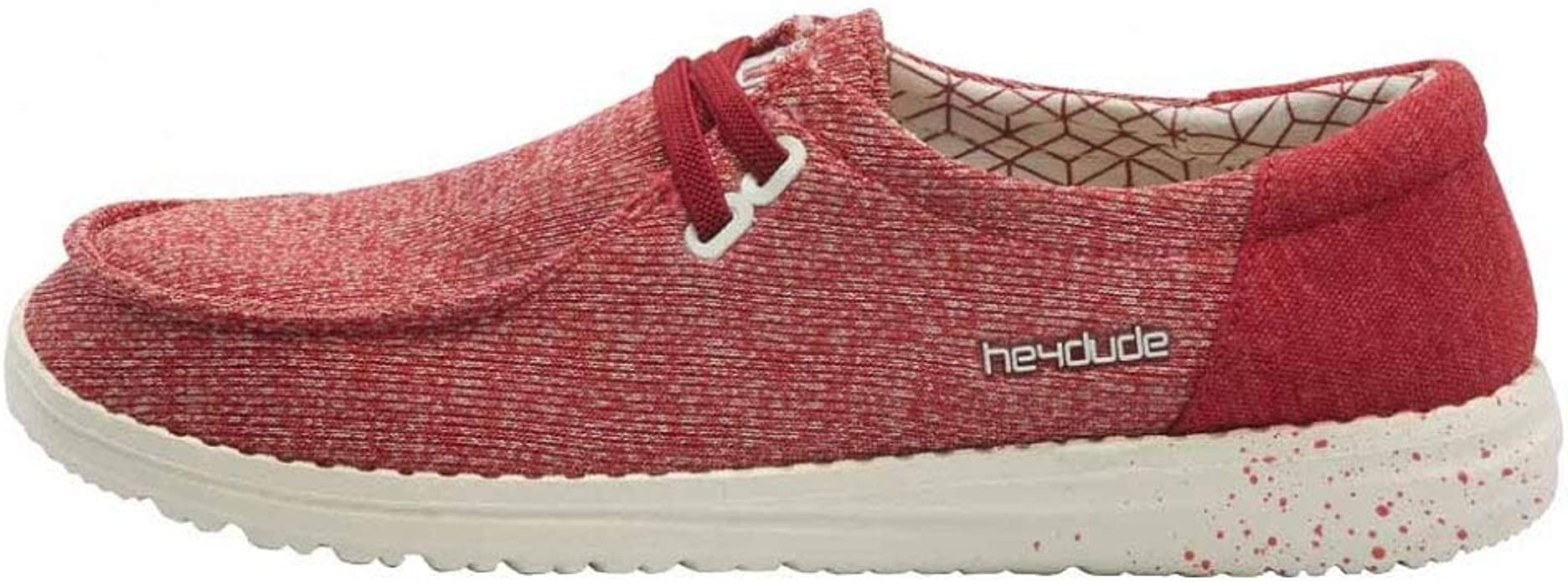 Hey Dude Ladies Wendy Sox Canyon Red Shoes 121410545