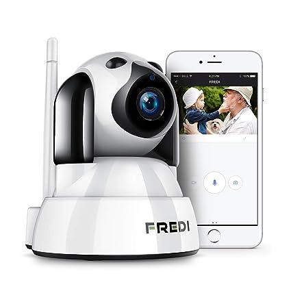 Fredi - Cámara de vigilancia IP inalámbrica con Wi-Fi, monitor para bebés,