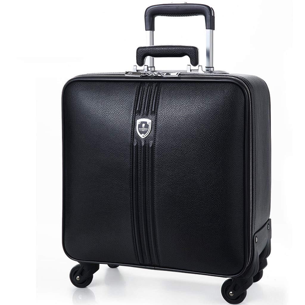FRF トロリーケース- ユニバーサルホイール20インチ搭乗トロリーケース男性、16インチ女性スーツケースパスワードボックスソフトスーツケース (色 : ブラック, サイズ さいず : 16in) 16in ブラック B07QZGB394