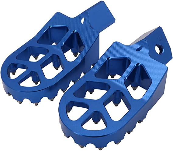 Motorcycle Foot Pegs Rest Pedal Footpegs For Yamaha PW50 81-19 PW80 83-06 Y-ZINGER 85-01 TW200 1987-2019 Dirt Bike