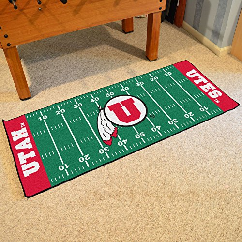 FANMATS NCAA University of Utah Utes Nylon Face Football Field Runner