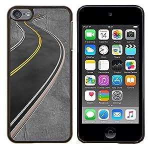 For Apple iPod Touch 6 6th Generation - Gray Empty Road Highway /Modelo de la piel protectora de la cubierta del caso/ - Super Marley Shop -