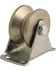 """CNBTR 2"""" Dia Groove Rigid Caster Wheel 45# Steel for Industrial machines Carts 300KG"""