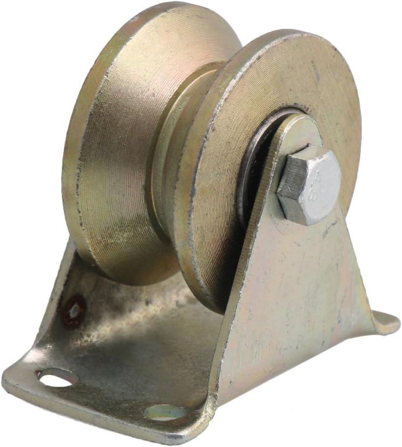 200kg Load Bearing 31mm Wheel Dia 45# Steel Groove Rigid Caster Yellow