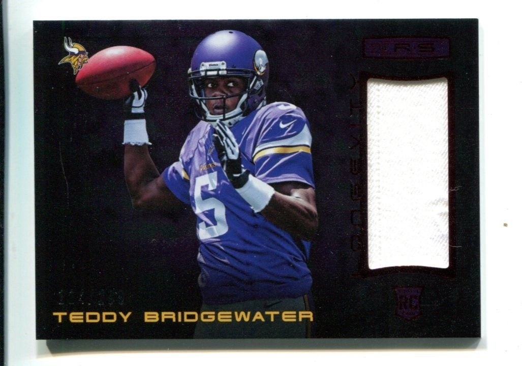 the latest 8427a c3f42 Teddy Bridgewater 2014 Panini Rookies & Stars Jersey 114/299 ...