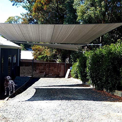 ECOTOUCH 8 x 10 Rctangle Coffee Sun Shade Sail Permeable UV Block Perfect for Outdoor Patio Garden