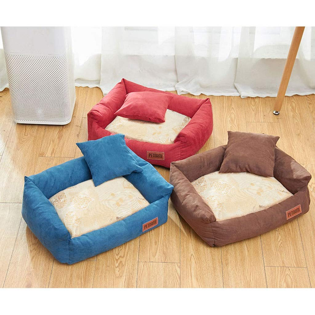 Red X-Large Red X-Large Dog Bed Cat Bed Dog Bed, Dog Basket, Comfortable Dog Sofa, Cosy Pet Bed in Bedroom, Living Room and Hallway, Easy to Clean Pet Bed (color   Red, Size   Xl)
