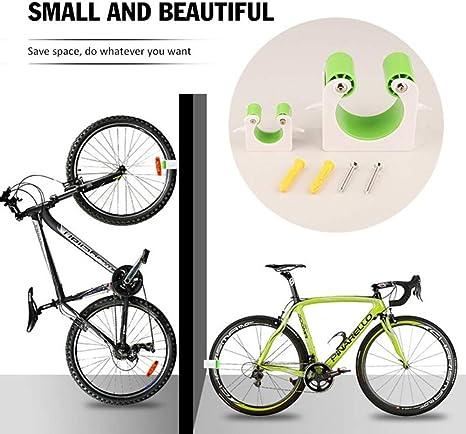 HQCM Fahrradparkschnalle Wandhalterung Mountainbike Rennrad Vertikaler Aufbewahrungshalter Clip Fahrradst/änder mit Haken
