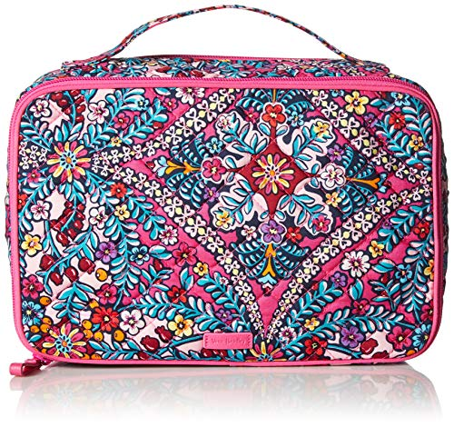 (Vera Bradley Iconic Large Blush & Brush Case, Signature Cotton, Kaleidoscope)
