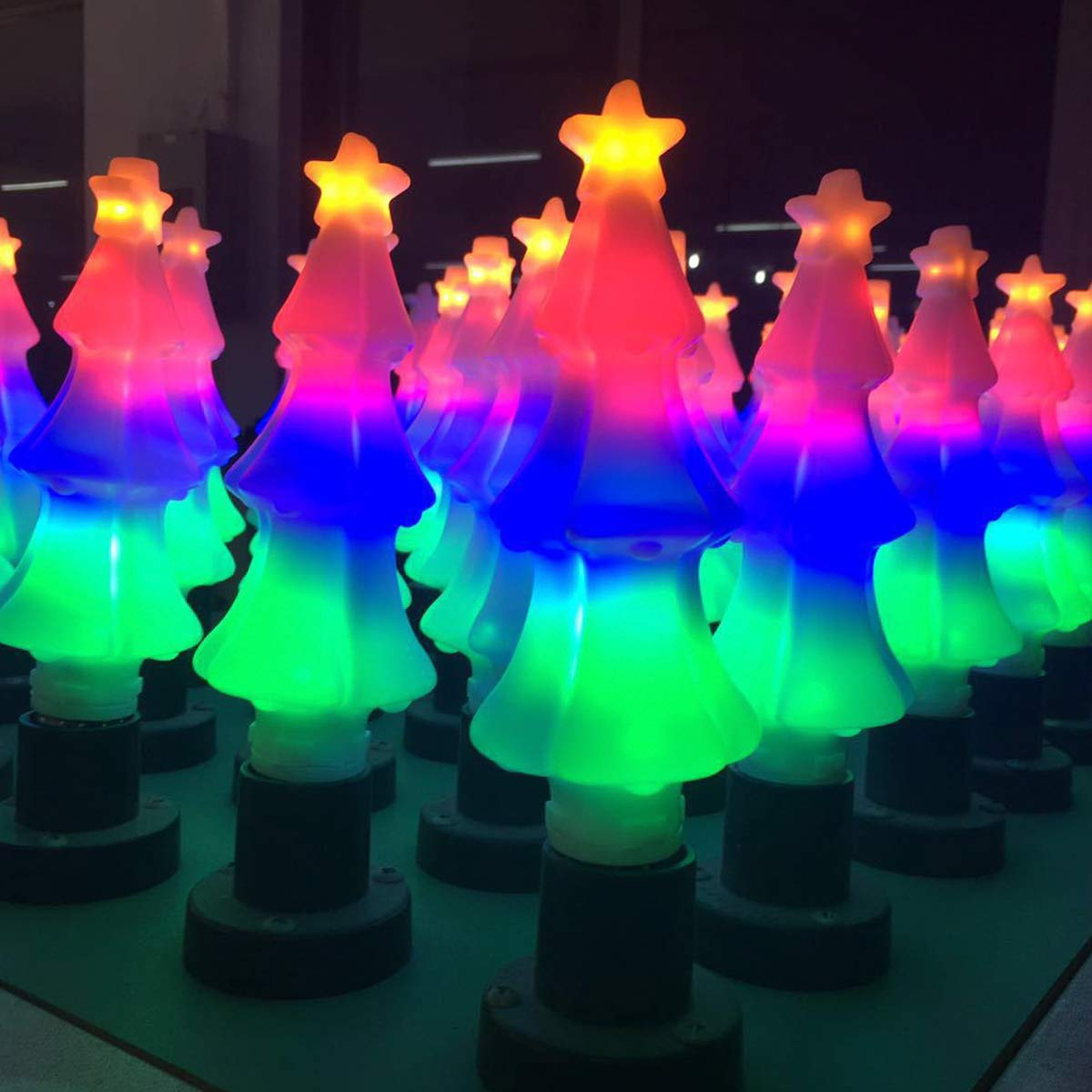 Blue AWE-LIGHT 4-Pack 2W LED Colored Blue Light Bulb G45 E26 Medium Base Color Light Bulb Wedding Halloween Christmas Party Bar Mood Ambiance Decor