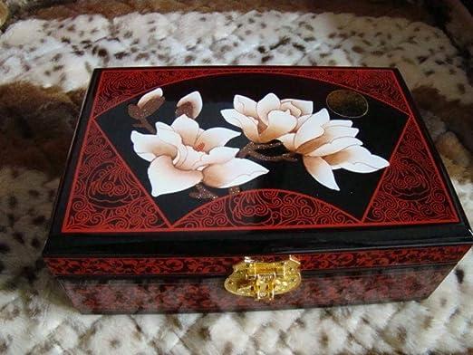 Hongge Caja Joyero,1 Joyero Caja Madera Pintada a Mano de joyería ...