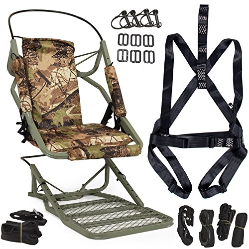 Seat Cradle swing Tree stand Climber Hang out Climbing Camouflage Hunting Deer Rifle Bow Game Hunt Belt Harness