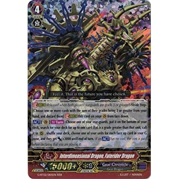 Cardfight!! Vanguard TCG - Interdimensional Dragon, Faterider Dragon (G-BT02/005EN) - G Booster Set 2: Soaring Ascent of Gale & Blossom