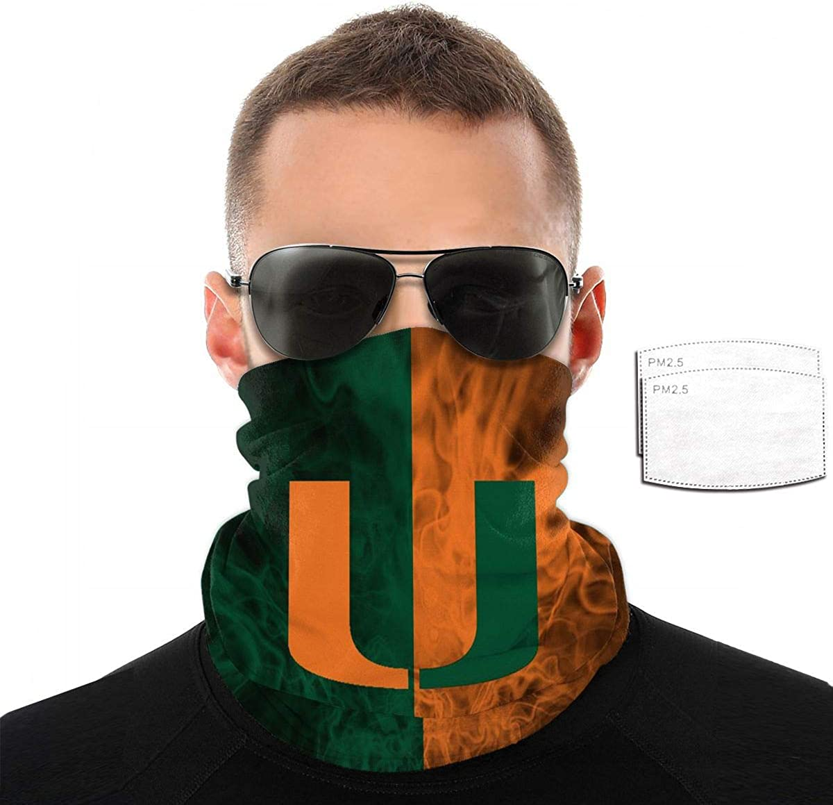 NCAA Face Cover with Filter Face Cover Windproof Sports Mask Outdoor Balaclava