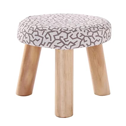 Amazon.com: Solid Wood Round Footstool Household Change ...
