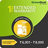 GreenDust Extended Warranty for Large Appliances (Rs.6001 - 8000), 1 year-Delivery by Email
