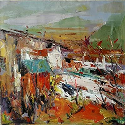 Cottage_4 By Original Artist - Chen DeJun. Museum Quality Oil Painting. (Unframed and Unstretched).