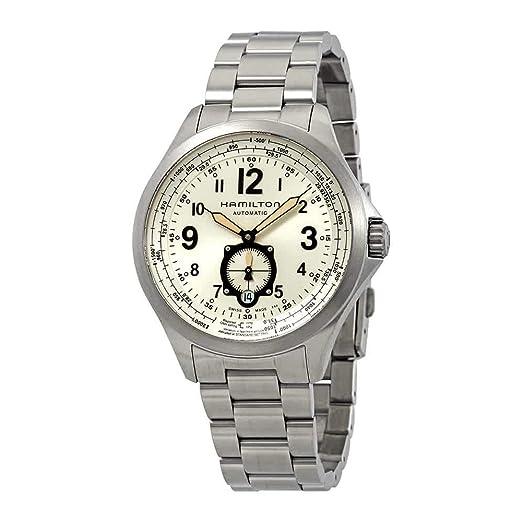 Hamilton - HAMILTON Khaki Aviation QNE-Auto H76655123 - H76655123: Amazon.es: Relojes