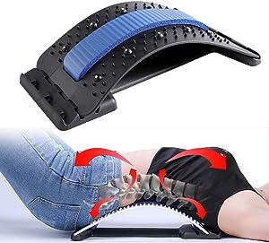 Back Stretcher for Pain Relief, Spine Deck Back Stretcher for Lower Back Lumbar Relief, Multi-Level Back Massage Stretcher Device. Back Support for Office Desk Chair