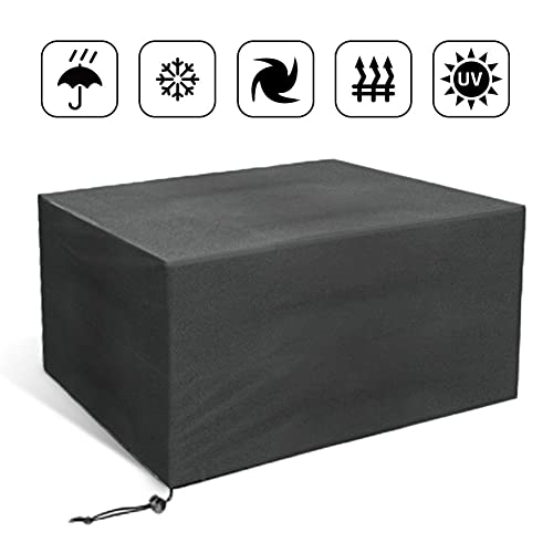 JIM'S STORE Outdoor Garden Cube Furniture Protective Cover, Rectangular Table and Chair Cover Waterproof and Dustproof Cover for Garden Patio