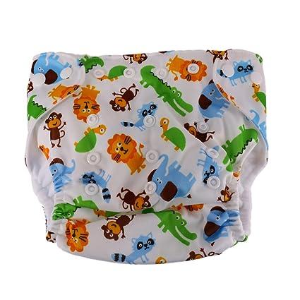 Bebé Recién Nacido A Prueba De Fugas Tela Cubierta de Pañal Reutilizable De Tamaño Ajustable -