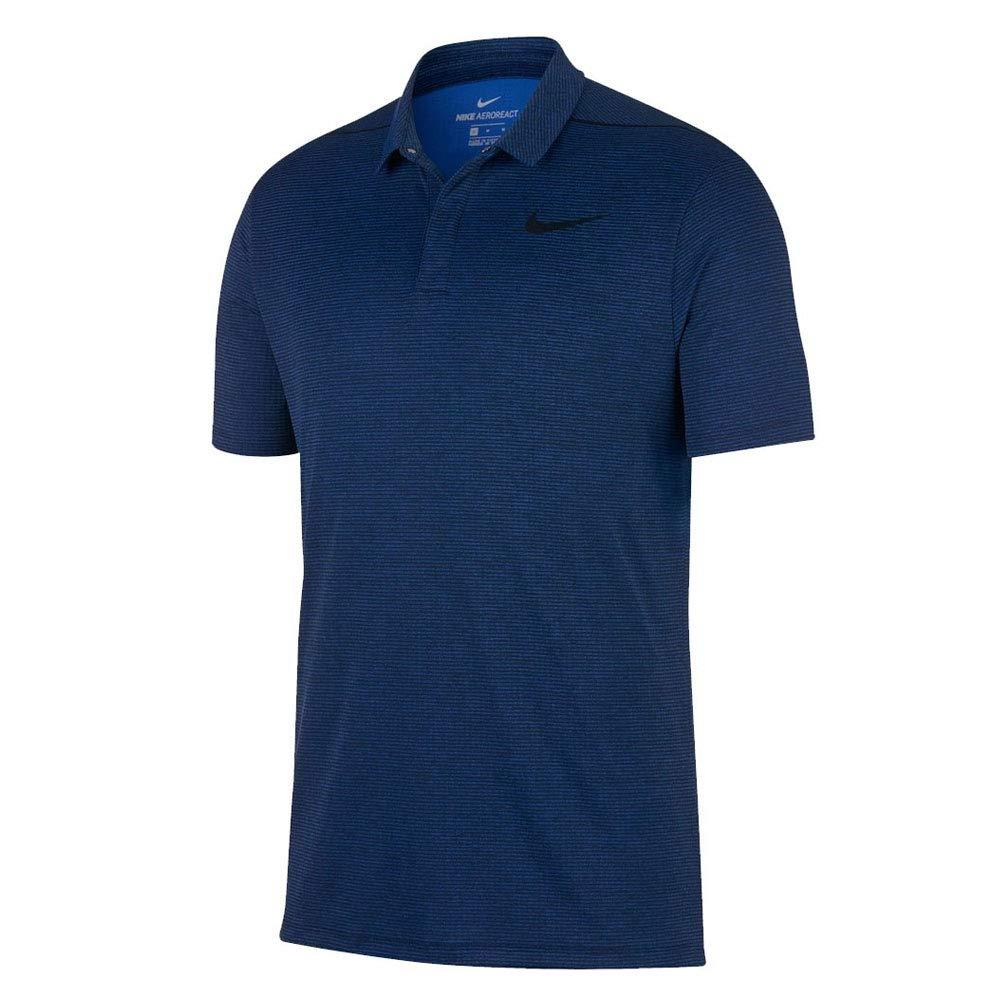 NIKE AeroReact Stripe OLC Golf Polo 2017 Blue Jay/Black X-Large