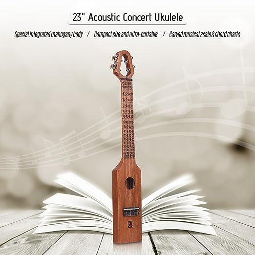 Amazon Ammoon 23 Ininch Uke Acoustic Concert Ukulele Mahogany