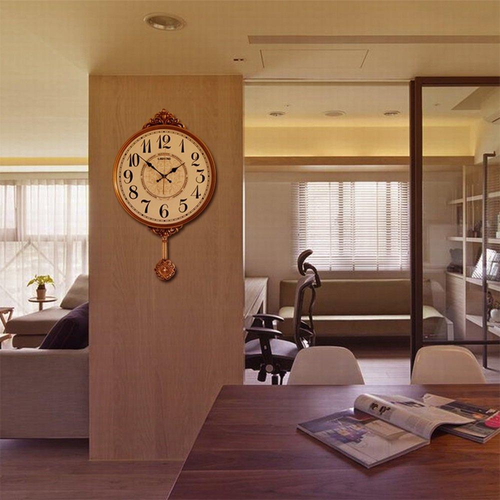 Reloj De Péndulo De Reloj De Pared Clásico, Reloj De Pared Decorativo Antiguo De La Vendimia Movimiento De Cuarzo Reloj De Oscilación Clásico Dormitorio De ...