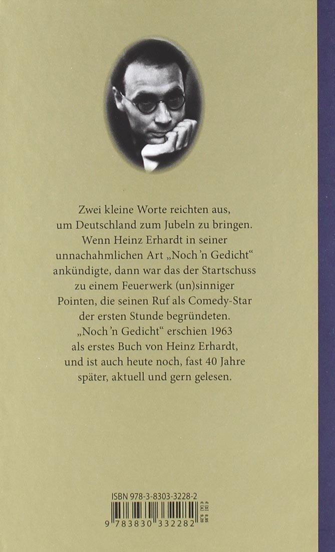 Nochn Gedicht Amazoncouk Heinz Erhardt 9783830332282