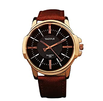 JACKY S - YAZOLE Wrist Watch Mens Watch Fashion 2017 Top Luxury Men s Slim  Leather Band Casual e18fb25ce1