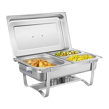 Royal Catering Chafing Dish Calentador Para Buffet RCCD-1.3GN-1 (2 Calentadores