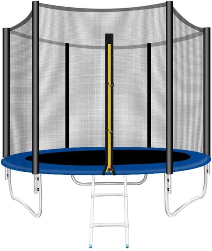 Trampolín de fitness HUO Trampolín Cama Elástica De Jardín Trampolín Ultrasport Cama Elástica De Jardín Infantil, Set Completo-Superficie De Salto con Escalera