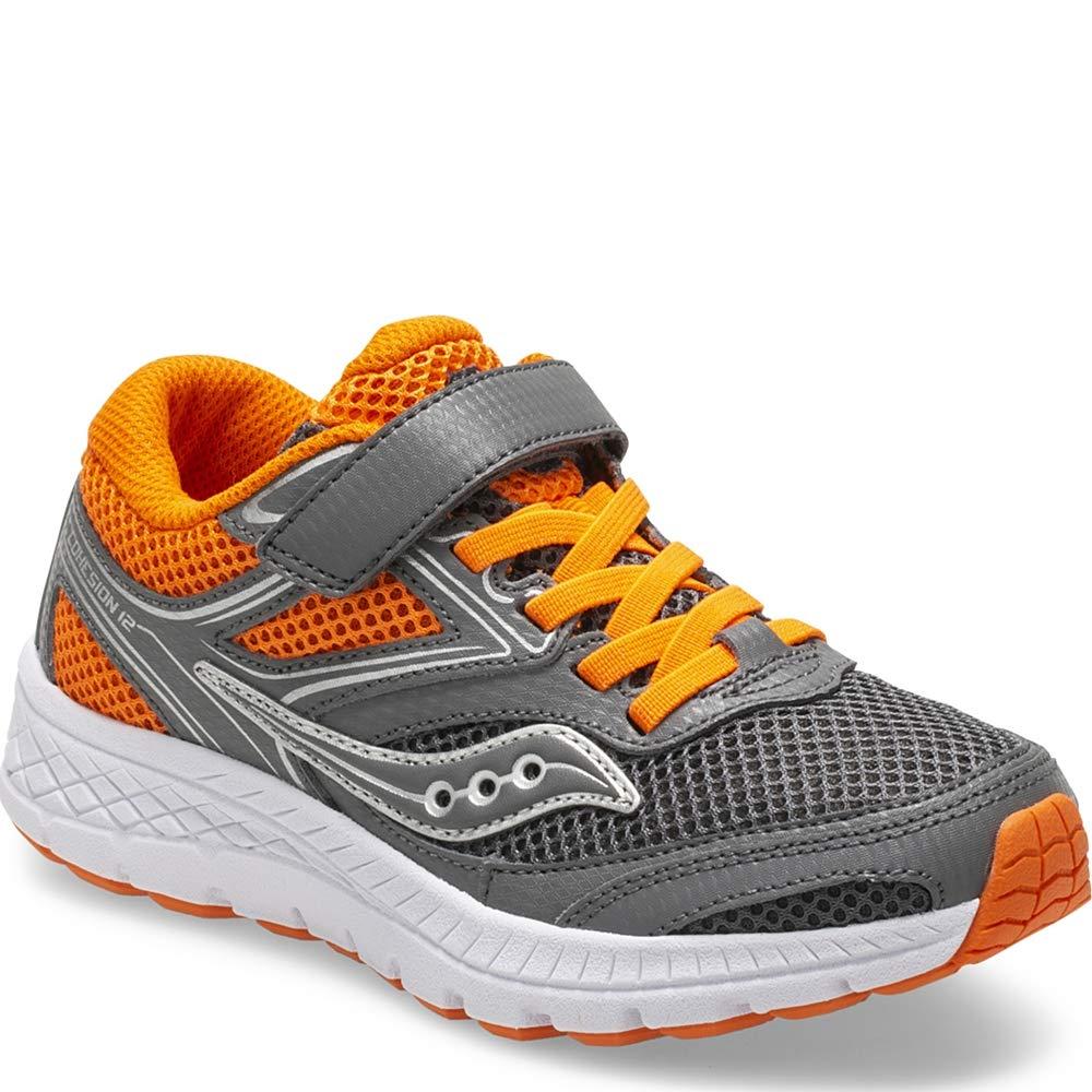 Saucony Cohesion 12 A/C Sneaker Big Kid 10.5 Grey | Orange