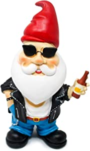 Hilarious Home Funny Outdoor Lawn Garden Beer Gnome Statue