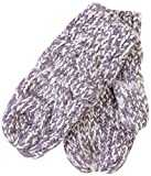 Tickled Pink Women's Multicolored Chunky Cable Knit Mittens, Breige, One Size