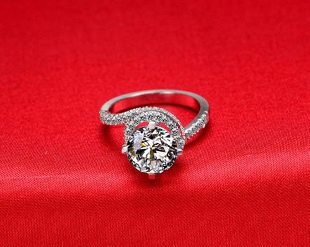Eshita Looking Stylist 2Ct Round Cut Diamond Solitaire Promise Engagement Wedding Ring