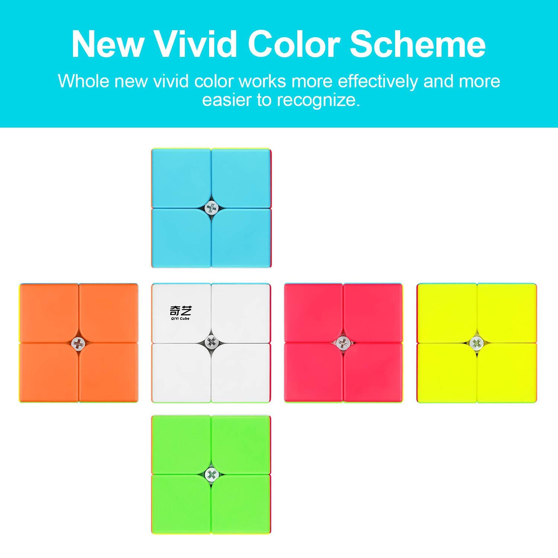 SENWOW Qiyi Qidi S 2x2 Speed Cube Stickerless Puzzle Cube for Kids