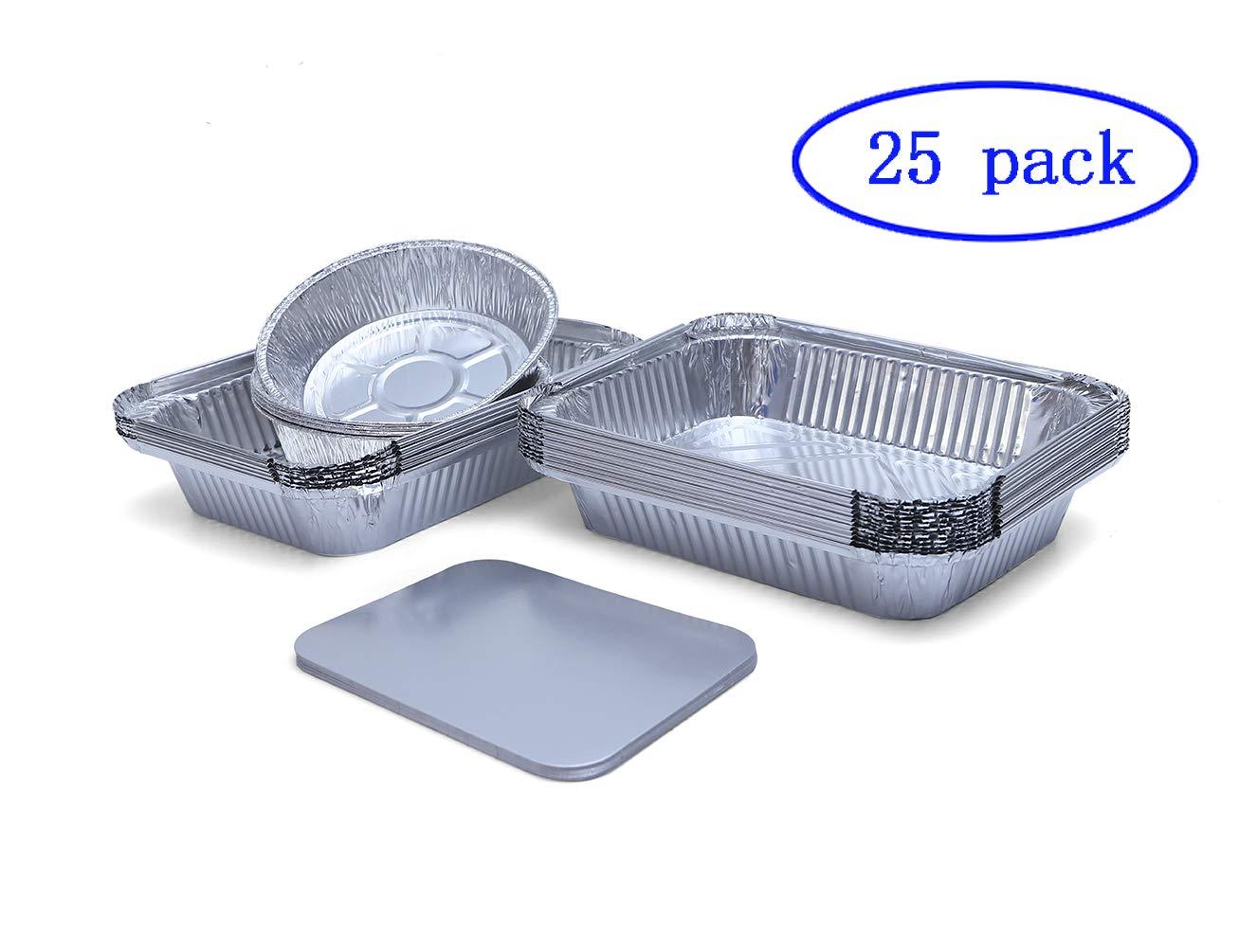 Helet jetables en Feuille d'aluminium Plateaux conteneurs pour la Cuisson à rôtir récipient de Cuisson Préparation & More Gastronorm Demi Taille Poêle