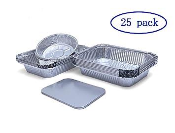 Helet Bandejas Desechables de Aluminio para Horno, asado, Cocina ...